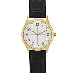 Infinite - Men's black croc-effect analogue watch