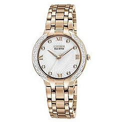 Citizen - Ladies rose diamond watch