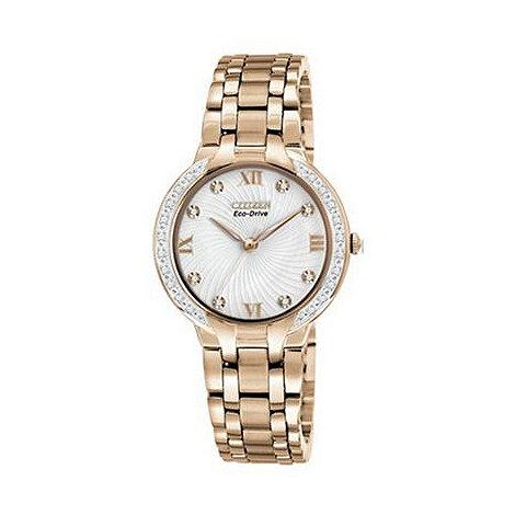 Citizen - Ladies rose diamond watch