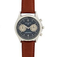 Infinite - Men's brown mock multi dial watch
