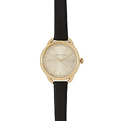 Red Herring - Black and gold curved lug watch