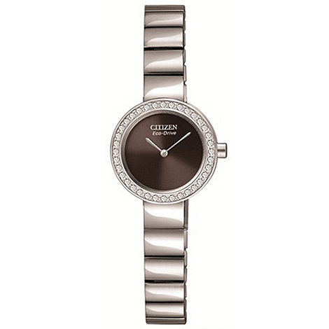 Citizen - Ladies +Eco-Drive+ silhouette crystal watch
