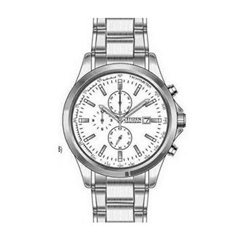 Citizen - Men+s silver quartz chronograph watch