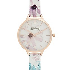 Mantaray - Ladies lilac floral print watch