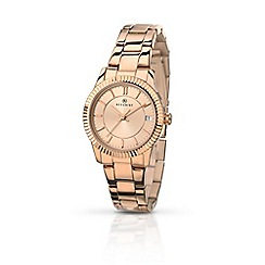 Accurist - Ladies rose gold quartz bracelet watch