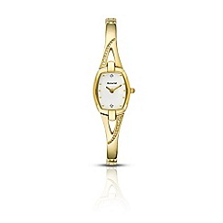Accurist - Ladies gold quartz semi bracelet watch