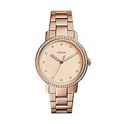 Fossil - Ladies rose gold 'Neely' quartz bracelet watch