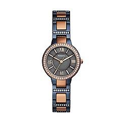 Fossil - Ladies multicoloured 'Virginia' quartz bracelet watch