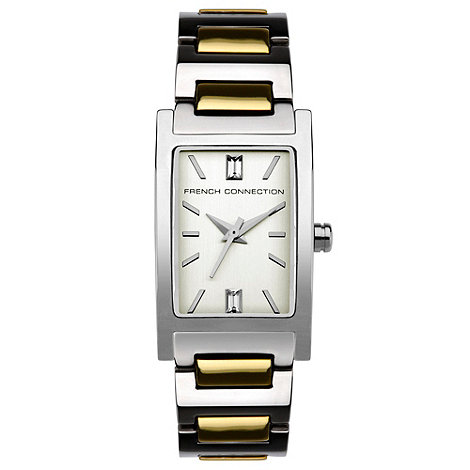 French Connection - Ladies stainless steel multi link bracelet watch