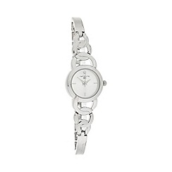 Infinite - Ladies silver circle link bracelet watch