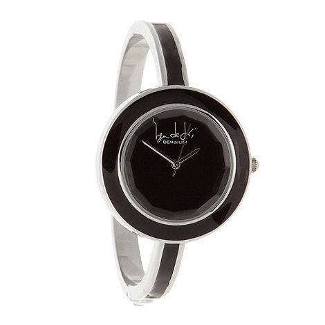 Principles by Ben de Lisi - Designer ladies black enamel bangle watch