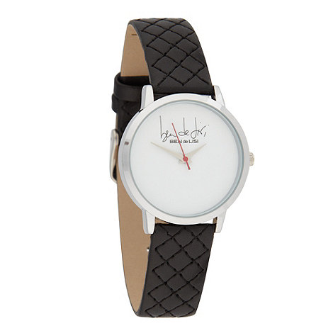 Principles by Ben de Lisi - Designer ladies black quilted watch