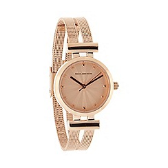 RJR.John Rocha - Designer ladies rose gold split mesh strap watch