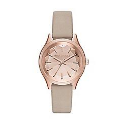 Karl Lagerfeld - Ladies brown 'Janelle' quartz leather strap watch