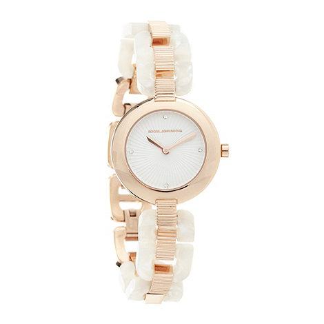 RJR.John Rocha - Designer ladies white link watch
