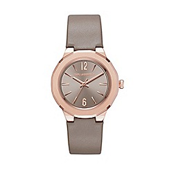 Karl Lagerfeld - Ladies grey 'Joleigh' quartz leather strap watch