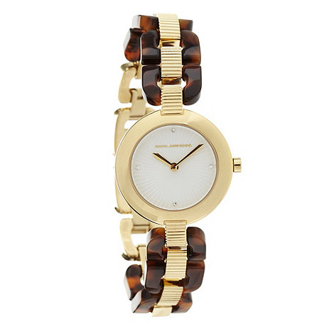 RJR.John Rocha - Designer ladies brown tortoiseshell link watch