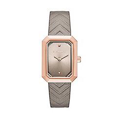 Karl Lagerfeld - Ladies nude 'Linda' quartz leather strap watch