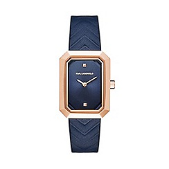 Karl Lagerfeld - Ladies blue 'Linda' quartz leather strap watch