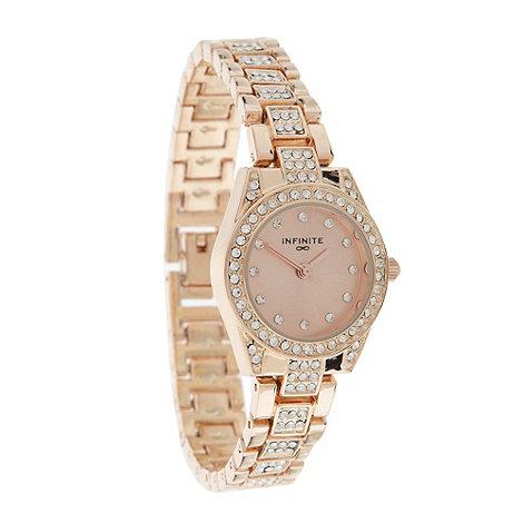 Infinite - Ladies rose stone bezel bracelet watch