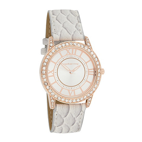 Red Herring - Ladies grey strap watch