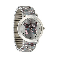 Mantaray - Ladies silver butterfly dial watch
