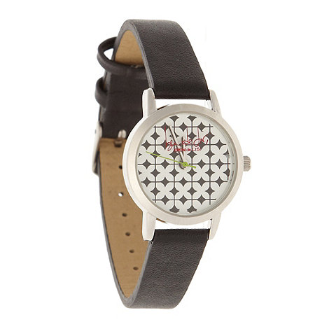 Principles by Ben de Lisi - Designer ladies black geometric dial watch
