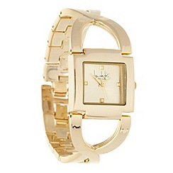Principles by Ben de Lisi - Designer ladies gold cross over bracelet watch