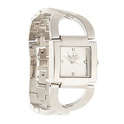 Principles by Ben de Lisi - Designer ladies silver cross over bracelet watch