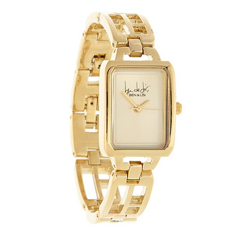 Principles by Ben de Lisi - Designer ladies gold cutout bracelet watch