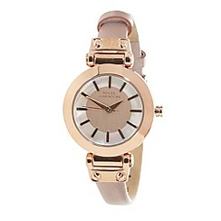 RJR.John Rocha - Designer ladies rose metallic strap watch