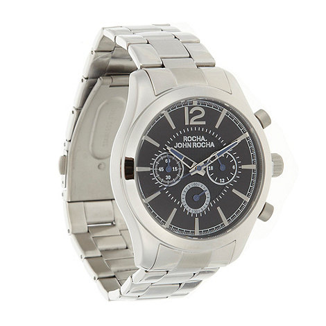 RJR.John Rocha - Designer men+s silver chronograph watch