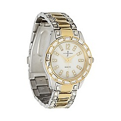 J by Jasper Conran - Designer ladies gold diamante marking watch