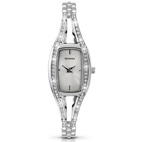 Sekonda - Ladies stainless steel diamante bracelet watch