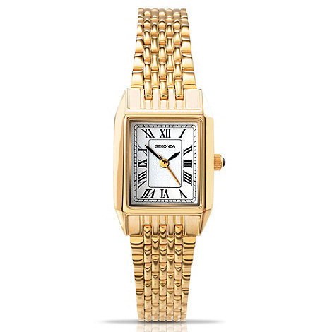 Sekonda - Ladies gold stainless steel bracelet watch