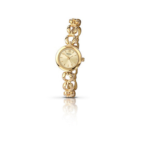 Sekonda - Ladies gold plated round champagne dial watch