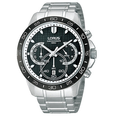 Lorus - Men+s stainless steel bracelet strap watch