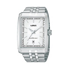 Lorus - Men's stainless steel square watch