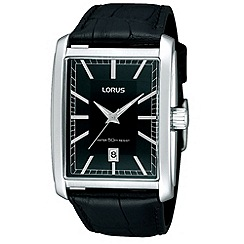 Lorus - Men's black square dial watch