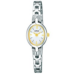 Lorus - Ladies silver and gold crystal watch