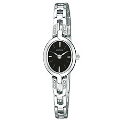 Lorus - Ladies silver and black crystal watch