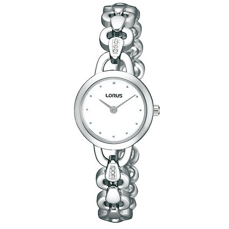 Lorus - Ladies silver round dial bracelet watch