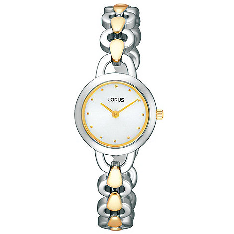 Lorus - Ladies silver and gold round dial bracelet watch