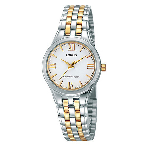 Lorus - Ladies gold and silver bracelet watch