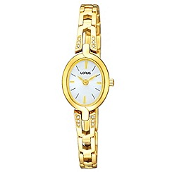 Lorus - Ladies gold crystal watch
