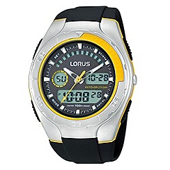 Lorus - Men's black and yellow multi watch