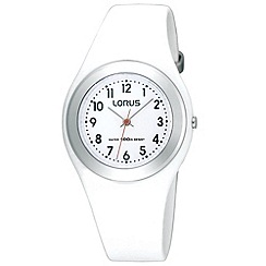 Lorus - Kids' white round dial watch