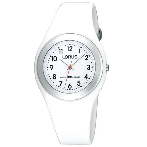 Lorus - Kids+ white round dial watch