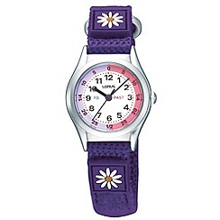 Lorus - Kids' purple daisy watch