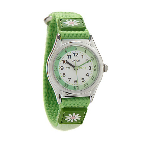Lorus - Kids+ green daisy watch